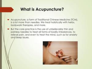 Intro to Acupuncture